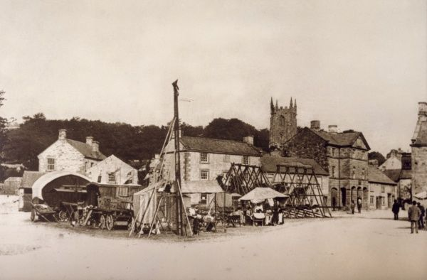 Town fair held in Hartington in the Peak District, England