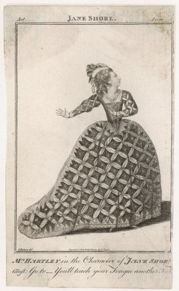 ELIZABETH HARTLEY actress in a wildly unsuitable dress as Jane Shore in Nicholas Rowe's play of that name. (Jane was one of the mistresses of Edward IV.) Date: 1751 - 1824