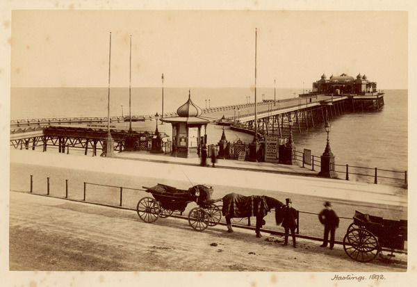 Hastings, Sussex: the pier on a quiet day