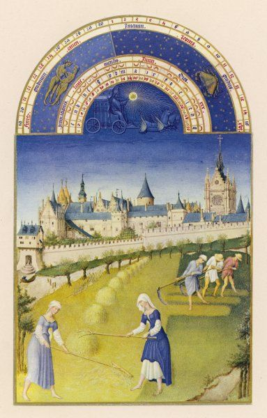 Making hay within sight of the royal palace at Paris, the Sainte Chapelle and the Conciergerie