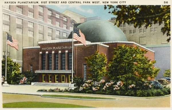Hayden Planetarium at 81st Street and Central Park West, New York City, America