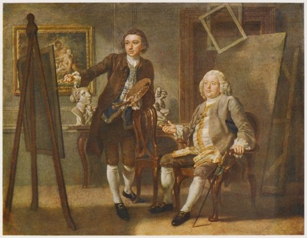 FRANCIS HAYMAN Robert Walpole, First Earl of Orford and Prime Minister, sits for his portrait in Hayman's studio