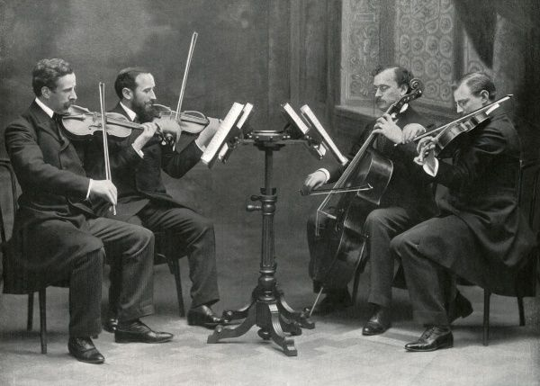 THE HAYOT QUARTET making music: Hayot, Touche, Salmon and Denayer Date: 1903