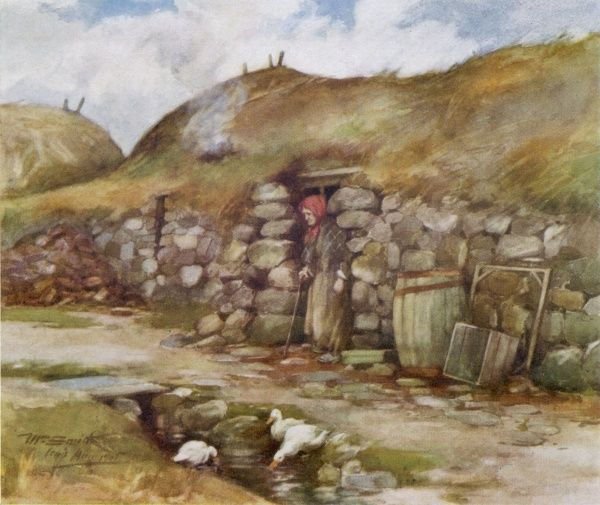 A crofter's home in the Hebrides, Scotland
