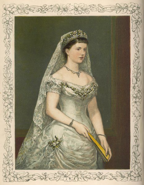 HELEN, DUCHESS OF ALBANY Wife of Leopold, Victoria's 4th son, on their wedding day