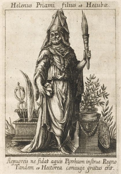 HELENUS Trojan soothsayer, son of Priam and Hecuba, later king of Epirus