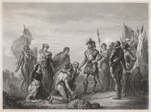 Henri IV is invited into Paris by a delegation of Parisians, but he is not yet strong enough to take the city, held by the Catholics and their Spanish allies