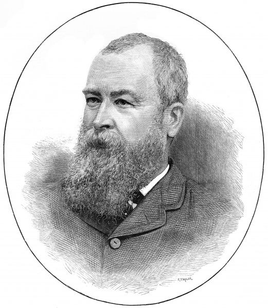 Portrait of Henry Broadhurst, MP for Bordesley Birmingham and Stoke-on-Trent, pictured when Under-Secretary of State for the Home Department in 1886