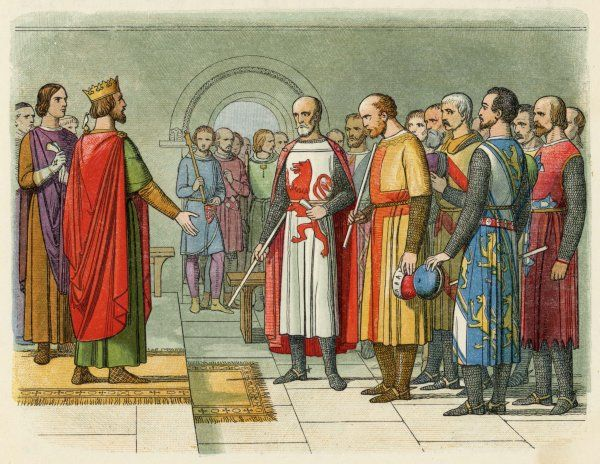 Henry III confers with parliament