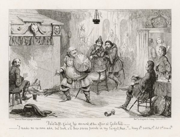 Falstaff giving his account of the affair at Gadshill Act II Scene IV