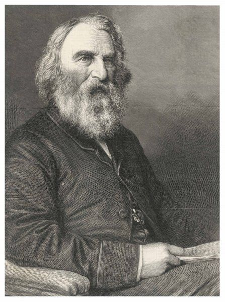 HENRY WADSWORTH LONGFELLOW (1807 - 1882) American writer, best known for his Hiawatha and for the line ships that pass in the night
