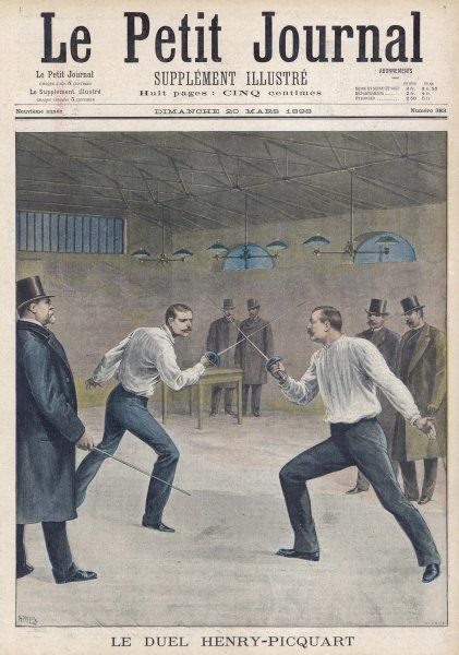 During the Dreyfus Affair in France, colonel Henry and M Picquart cross swords in regard to Zola's intervention