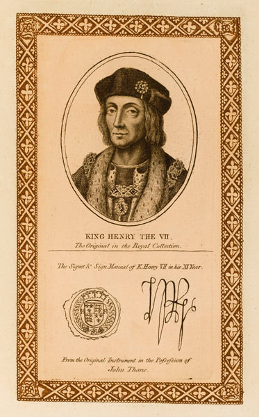 KING HENRY VII with his autograph
