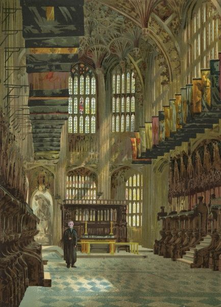 The interior of Henry VII chapel. Date: C19