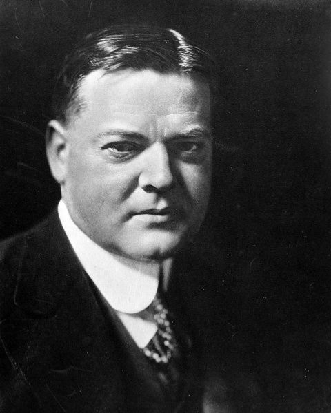 The successful candidate in the Presidential Election in America; Herbert Hoover the Republican Party's candidate for the Presidency