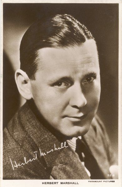 HERBERT MARSHALL British actor of stage and screen