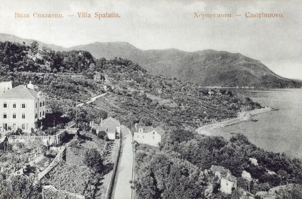 Herceg Novi - Montenegro - Villa Spalatin. Located at the entrance to the Bay of Kotor and at the foot of Mount Orjen. Date: circa 1910s