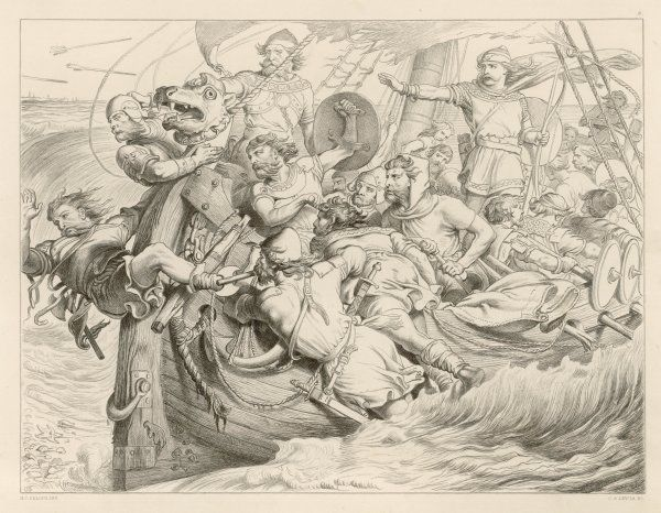 HEREWARD THE WAKE Hereward and his men run their ship ashore at Flanders