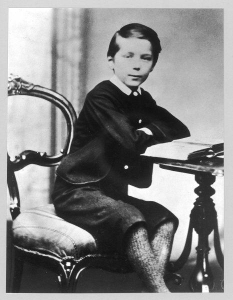 HERBERT GEORGE WELLS English novelist, sociologist and historian, at the age of 9