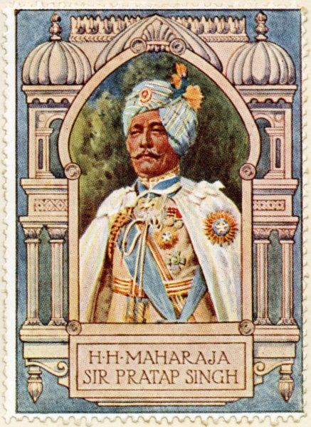Lieutenant-General MAHARAJA SRI SIR PRATAP SINGH SAHIB BAHADUR OF IDAR (1845 - 1922). A career British Indian Army soldier, Maharaja of the princely state of Idar and heir to Ahmednagar from 1902 to 1911, when he abdicated in favor of his adopted son