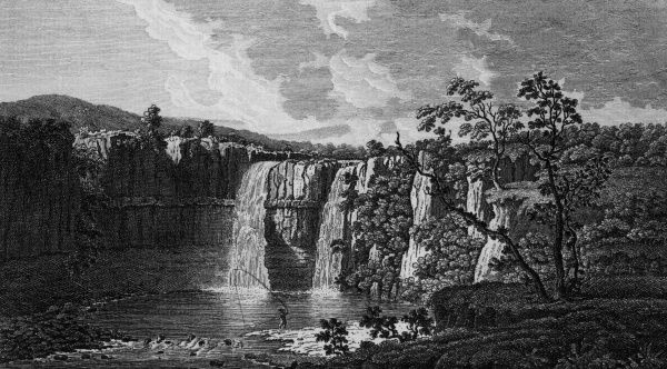 The cataract of the Tees at High Force, County Durham Date: late 18th century