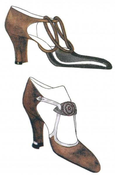 High heeled court shoes both with elongated toes, open sides & unusual straps. One has a double loop design across the instep, the other a leaf- shaped bar