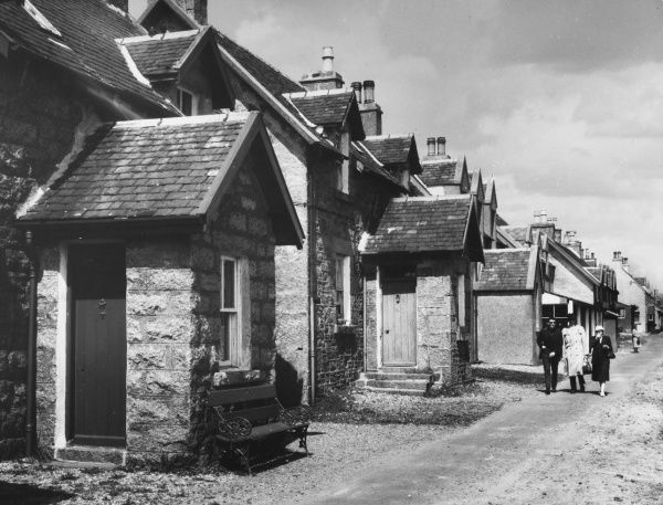 The High Street on the Isle of Iona, Scotland. Date: 1950s