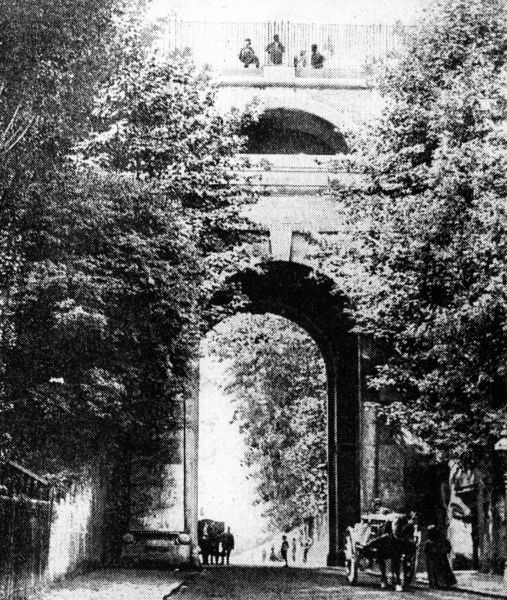 The Archway in the age of horses... Date: 1898