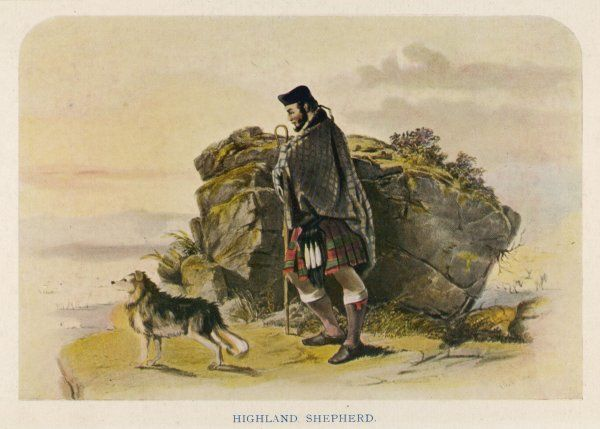 A shepherd of the Scottish highlands