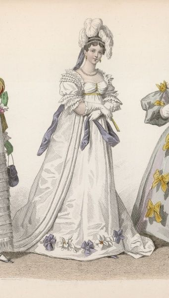 A later 19th century interpretation of dress from 1815