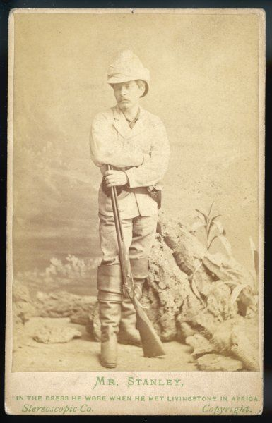 HENRY MORTON STANLEY British journalist and explorer, in the clothes he wore to meet Livingstone in 1871