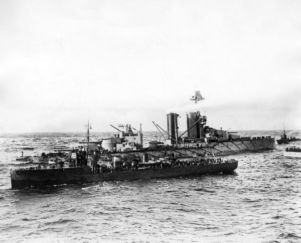 HMS Audacious, British King George V-class battleship, launched 1912