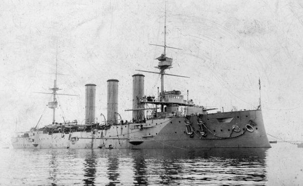 HMS Bedford, British Monmouth-class armoured cruiser, launched 1901, wrecked 1910. Date: early 20th century