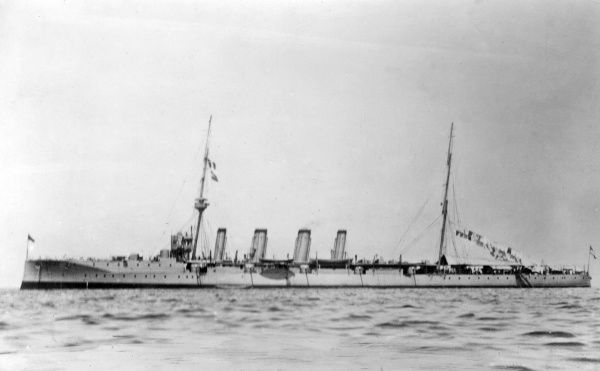 HMS Bristol, British Town-class light cruiser, launched 1910, served during the First World War, decommissioned 1921