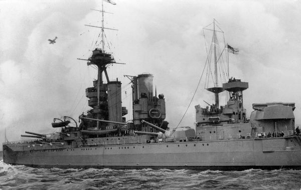 HMS Iron Duke, British battleship, launched 1912, served as the flagship of the Grand Fleet during the First World War, used as a base ship at Scapa Flow during the Second World War, decommissioned 1946. Date: early 20th century