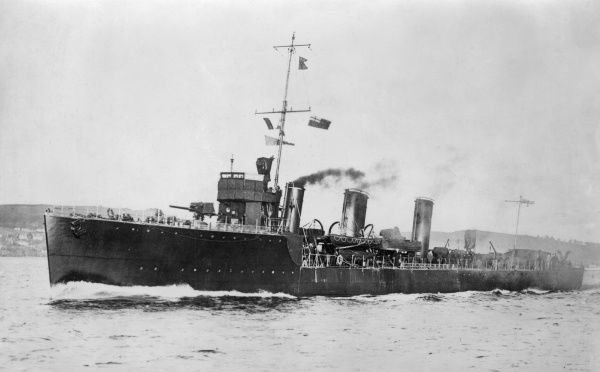 HMS Lookout, British Laforey-class torpedo boat destroyer, launched 1914, served during the First World War, decommissioned 1922. Date: 1914-1918
