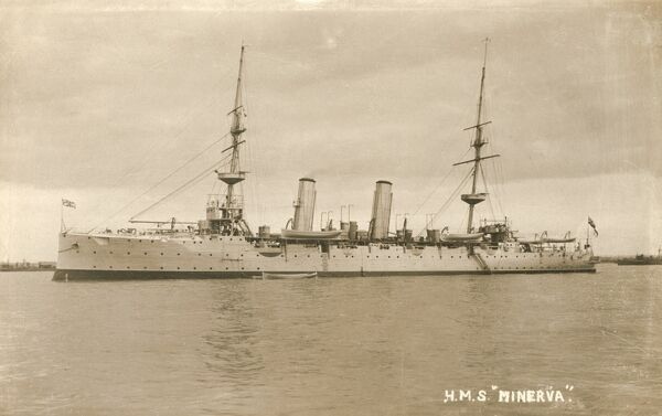 HMS Minerva was a second class protected cruiser of the Eclipse class, launched in 1895 and scrapped in 1920. The ship was present at the relief operations in Sicily after the great earthquake and tsunami in the Strait of Messina, 28 December 1908