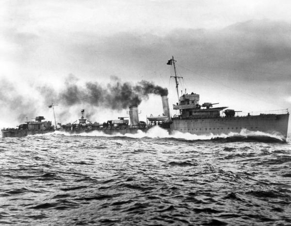 HMS Vanoc, British V-class destroyer, launched 1917, served during the Second World War as a long-range escort ship. Date: 20th century