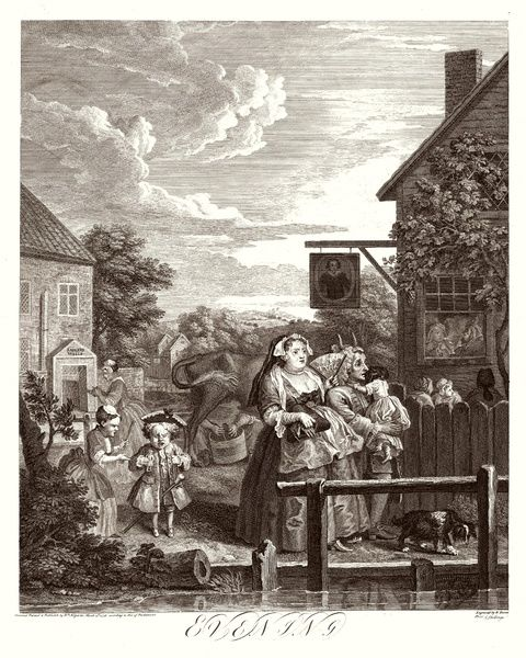 3. Evening The original Sadlers Wells building. The horns behind the husband's head suggest that he has been cuckolded
