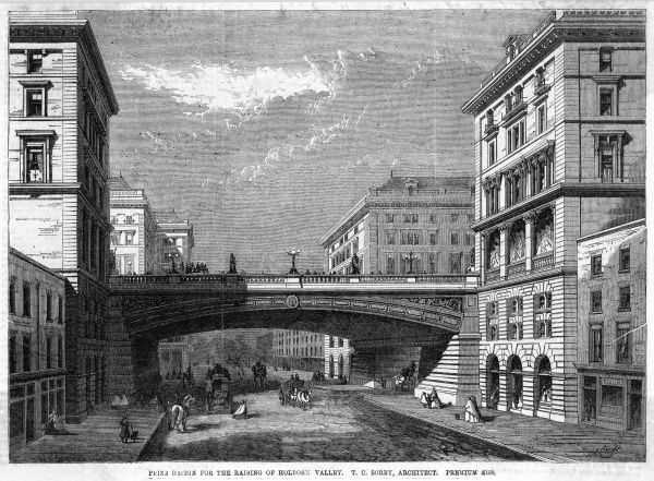 One of the rejected designs for the Holborn Viaduct, by T C Sorby