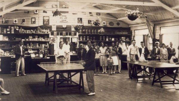 The interior of a canteen at an unnamed holiday camp in Corton