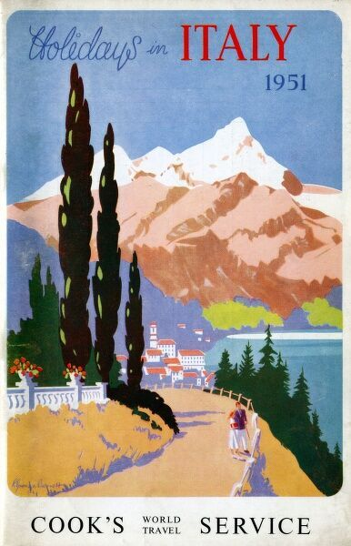 Brochure front cover advertising Thomas Cook's World Travel Service. Date: 1951