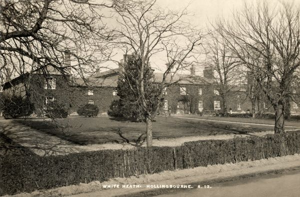 The union workhouse - later known as White Heath - at Hollingbourne, Kent, erected in 1836