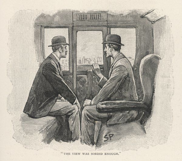 THE NAVAL TREATY Holmes and Watson travelling in a suburban train