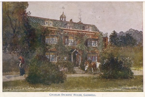The country home of Charles Dickens, English novelist, at Gadshill, near Rochester, Kent