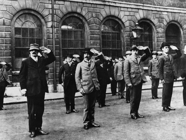 Home Guard Call up, London, at the beginning of World War I in 1914