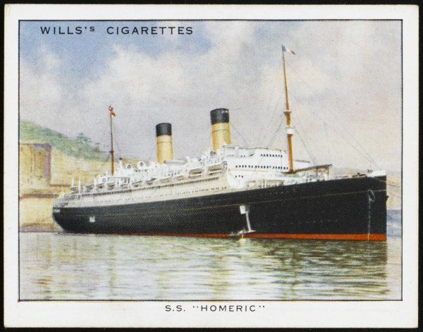 Passenger ship of the Cunard White Star line, sailing from Southampton to New York via Cherbourg