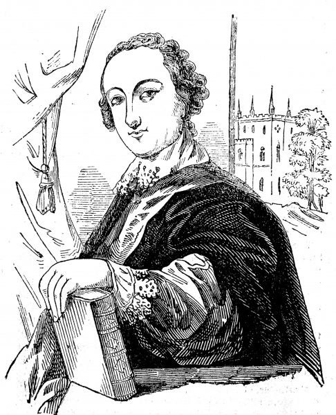 Engraved portrait of Horace Walpole (1717-1797), Fourth Earl of Orford, the English politician and writer