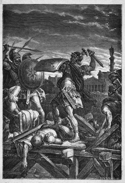 When Rome is threatened by Lars Porsena and his allies, Horatius Cocles and two companions repel them, defending a crucial bridge across the Tiber