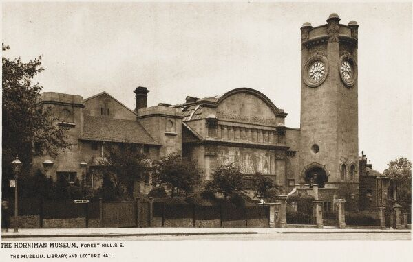 Horniman Museum - Forest Hill, London. Opened in 1901, the architect for this interesting building in the Arts and Crafts style was Charles Harrison Townsend